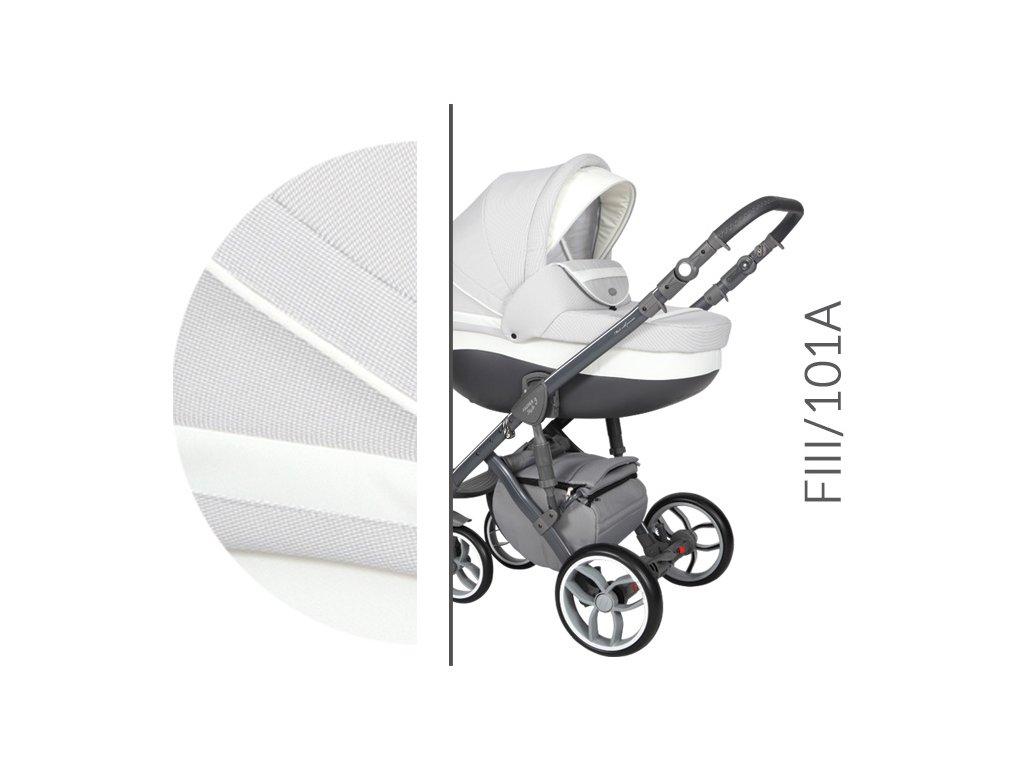Kočárek BABY MERC Faster 3 Style - F3 101 2021