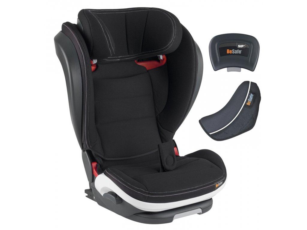 BeSafe autosedačka 100-150 cm iZi Flex FIX i-Size Black Car Interior