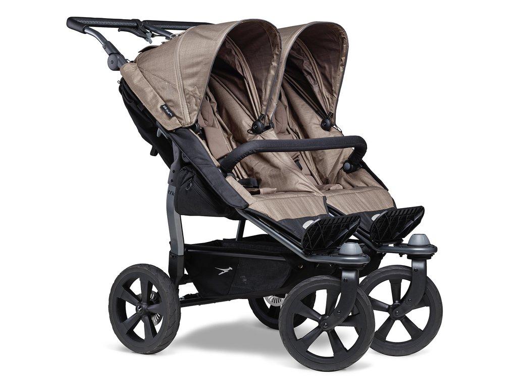 TFK sportovní kočárek Duo stroller - air chamber wheel brown