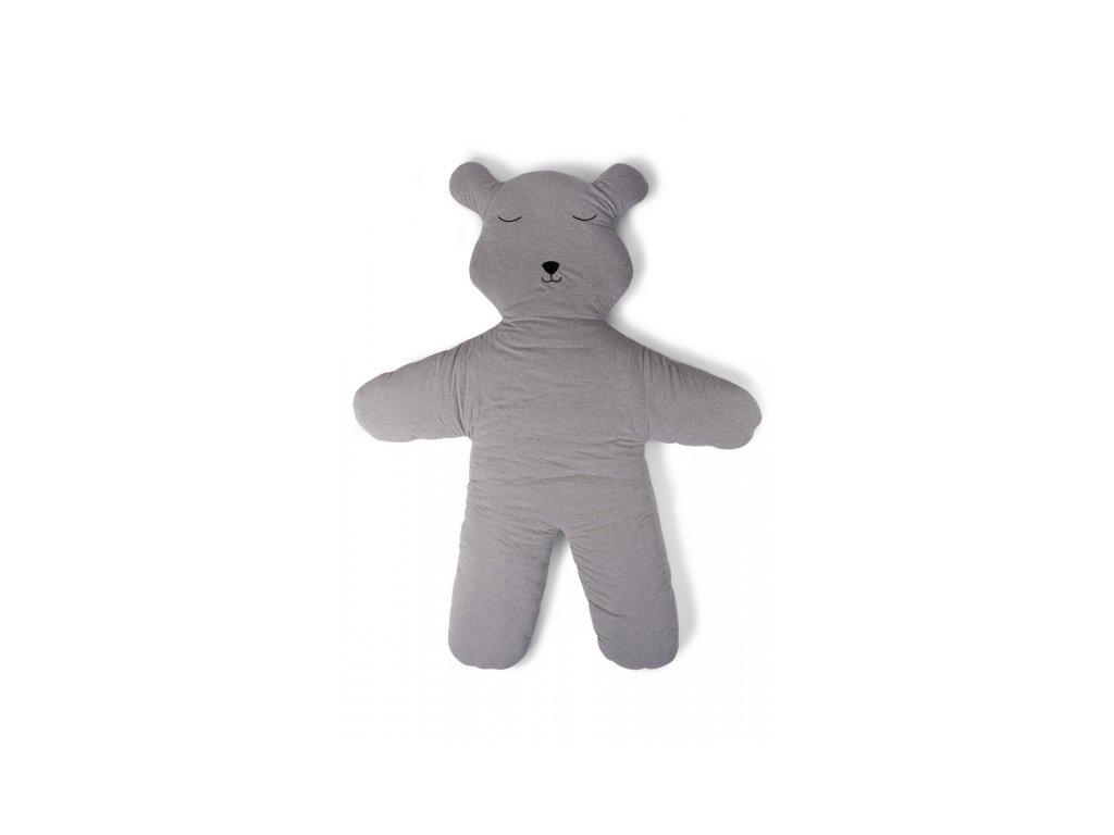Childhome Hrací deka medvěd Teddy Jersey Grey 150cm