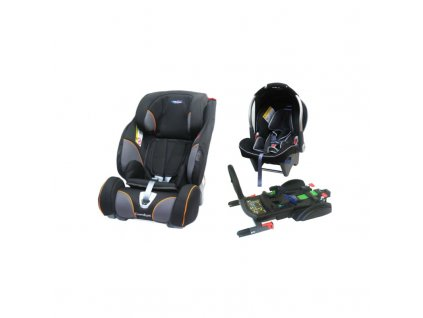 Autosedačka Klippan Triofix Comfort Black Orange se základnou a Dinofixem