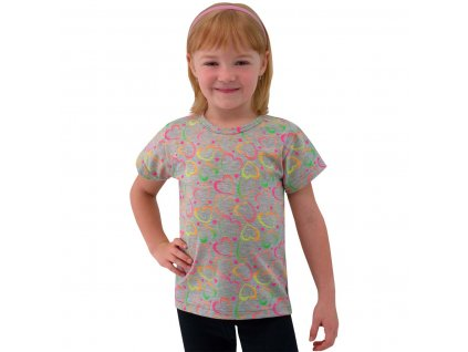 ESITO Dětské tričko Neonová srdce vel. 86 - 92 - šedá / 86 ESOBLTRINSRSED