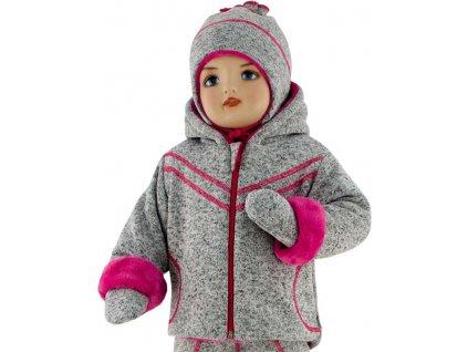 ESITO Dětská zimní bunda Oliver  vel. 56 - 68 - 56 / malinová ESDEBUNOLM