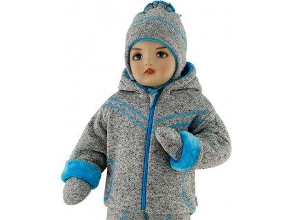 ESITO Dětská zimní bunda Oliver  vel. 56 - 68 - 56 / tyrkysová ESDEBUNOLM