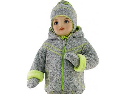 ESITO Dětská zimní bunda Oliver  vel. 56 - 68 - zelená / 56 ESDEBUNOLM