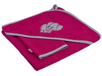 ESITO Dětská osuška s kapucí barevná - 100 x 100 cm / sytá růžová ESDEOSSKA