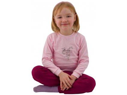 ESITO Dětské tričko dlouhý rukáv Ptáčci vel. 98 - 116 - 98 / růžová ESOBLTRIPTA