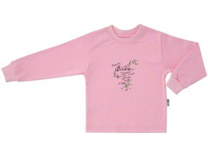 ESITO Dětské tričko dlouhý rukáv Ptáčci vel. 86 - 92 - 92 / růžová ESOBLTRIPTA