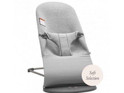 Lehátko Babybjorn Balance Bliss Light Grey 3D Jersey  Soft Collection