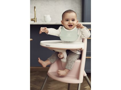 Dětská vysoká židle s pultíkem a pásy Pink - růžová, BabyBjörn