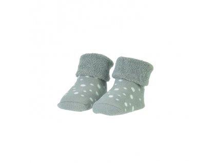 BAM BAM Ponožky organické sada šedá/puntíky