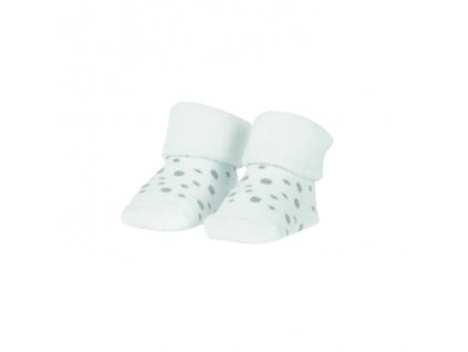 BAM BAM Ponožky organické sada bílá/puntíky