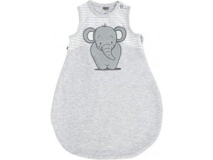 JACKY Spací pytel ELEPHANT,  šedá, unisex (Velikost 74/80)