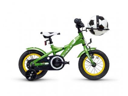S'COOL Dětské kolo XXlite fotbal 12 zelené (od 99 cm)