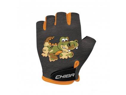 Chiba Cyklistické rukavice pro děti COOL KIDS Krokodýl Velikost L