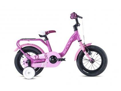 S'COOL Dětské kolo niXe alloy 12růžové/bleděrůžové (od 102 cm)