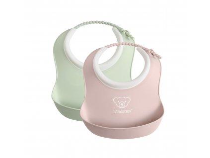 vyr 303 Small Baby Bib Powder GreenPowder Pink 2 pack