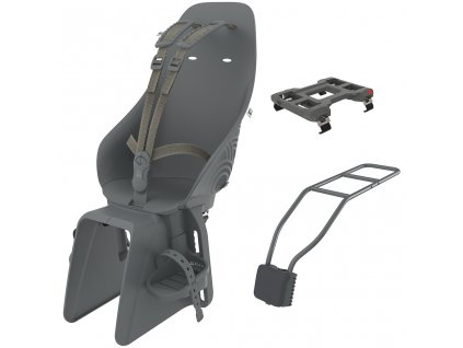 Urban iki Zadní sedačka s adaptérem a nosičom na sedlovku SET Bincho Černá