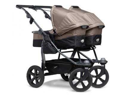 TFK kombinovaný kočárek Duo combi pushchair - air chamber wheel brown