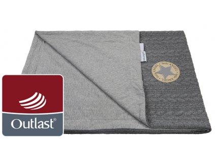 Little Angel deka deka dvojitá Copánky tenká Outlast šedá/šedý melír
