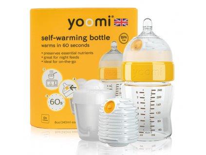 Yoomi kojenecká láhev, ohřívač, savička a nádoba na ohřívač 8oz Bottle/Warmer/Teat/Pod 2019 - Y18B1W1P