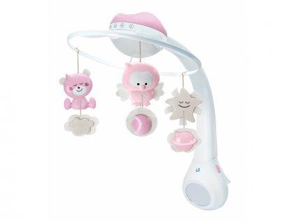 Infantino Hudební kolotoč s projekcí 3v1 růžový