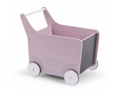 Childhome Dekorativní kočárek dřevěný Soft Pink