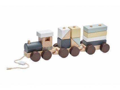 Kids Concept Vlak z kostek Neo dřevěný