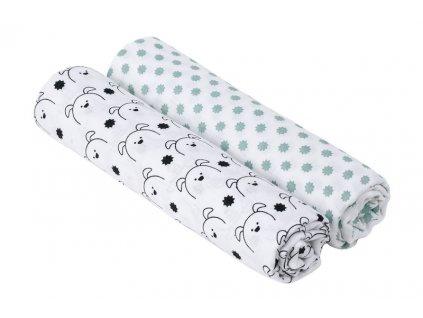 Dětská plena Lässig Swaddle blanket bavlněná 120 x 120 cm-2 kusy Barva: Little Chums Dog