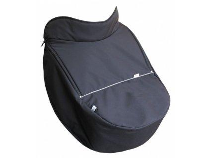 Dětský nánožník na kočárek Emitex Soft Universal Deluxe Barva: Černá