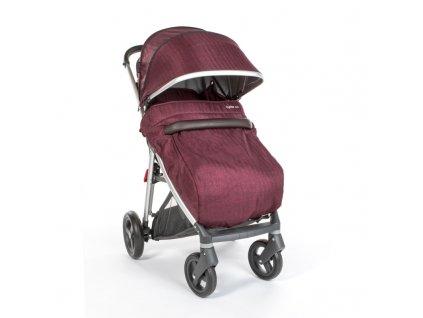 Dětský nánožník na kočárek BabyStyle Oyster Zero Barva: Berry