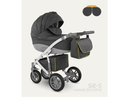 Dětský kočárek Camarelo Sirion Eco Barva: SIE-5 Tmavá šedá