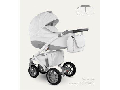 Dětský kočárek Camarelo Sirion Eco Barva: SIE-6 Bílá