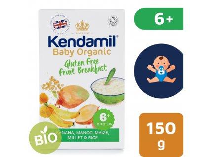 Kendamil BIO/Organická dětská bezlepková ovocná kaše (150 g)