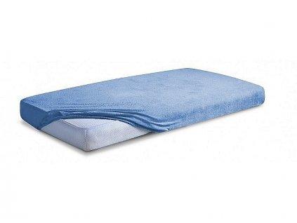 Maceshka  Nepropustné prostěradlo froté 120x60cm 60x120cm modrá