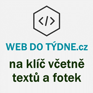 Web do týdne - na klíč včetně textů a fotek