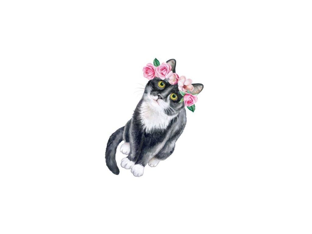 Dočasné tetování kočka VIII