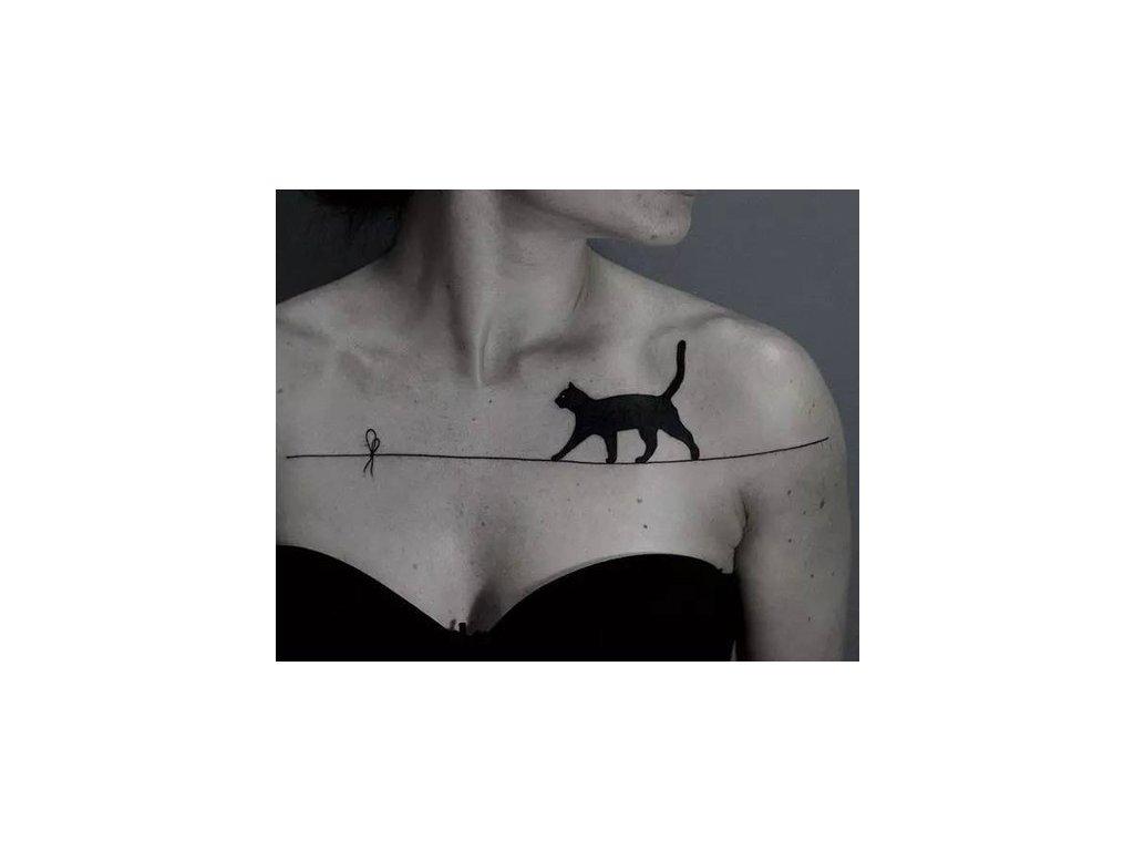 Dočasné tetování kočka X