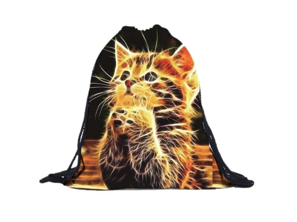 Batoh ohnivá kočka