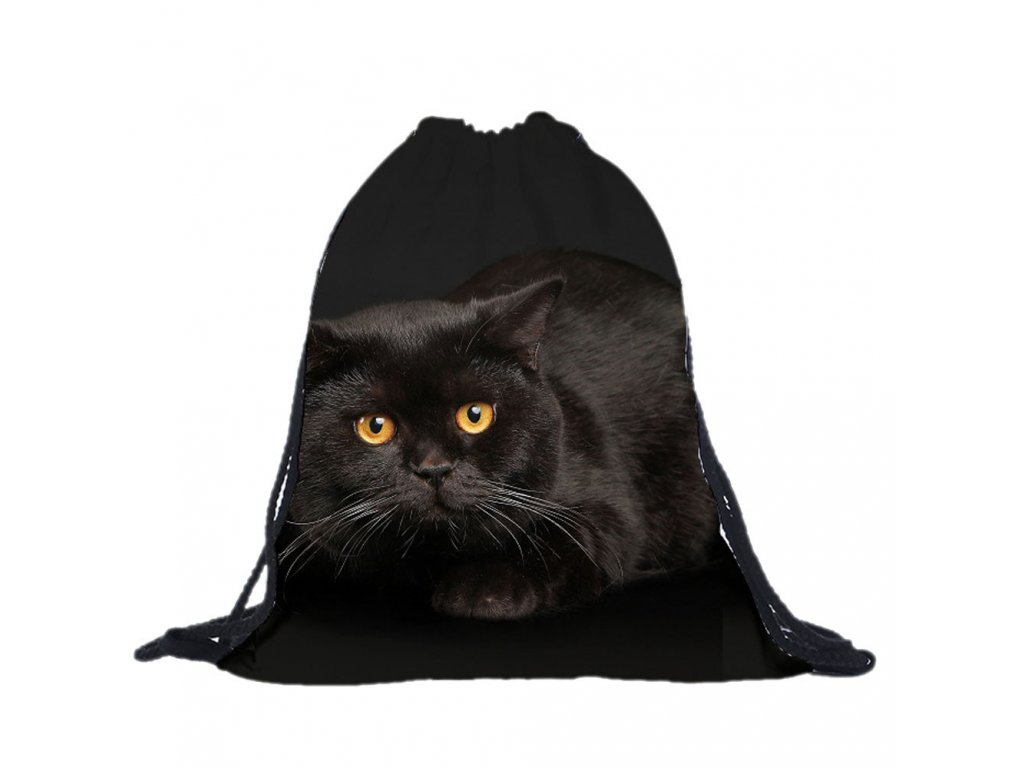 Batoh černá kočka