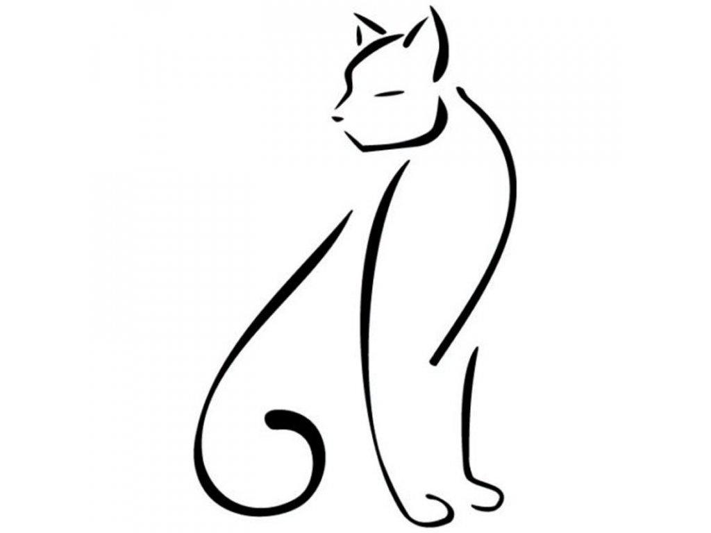 Samolepka na auto elegantní kočka