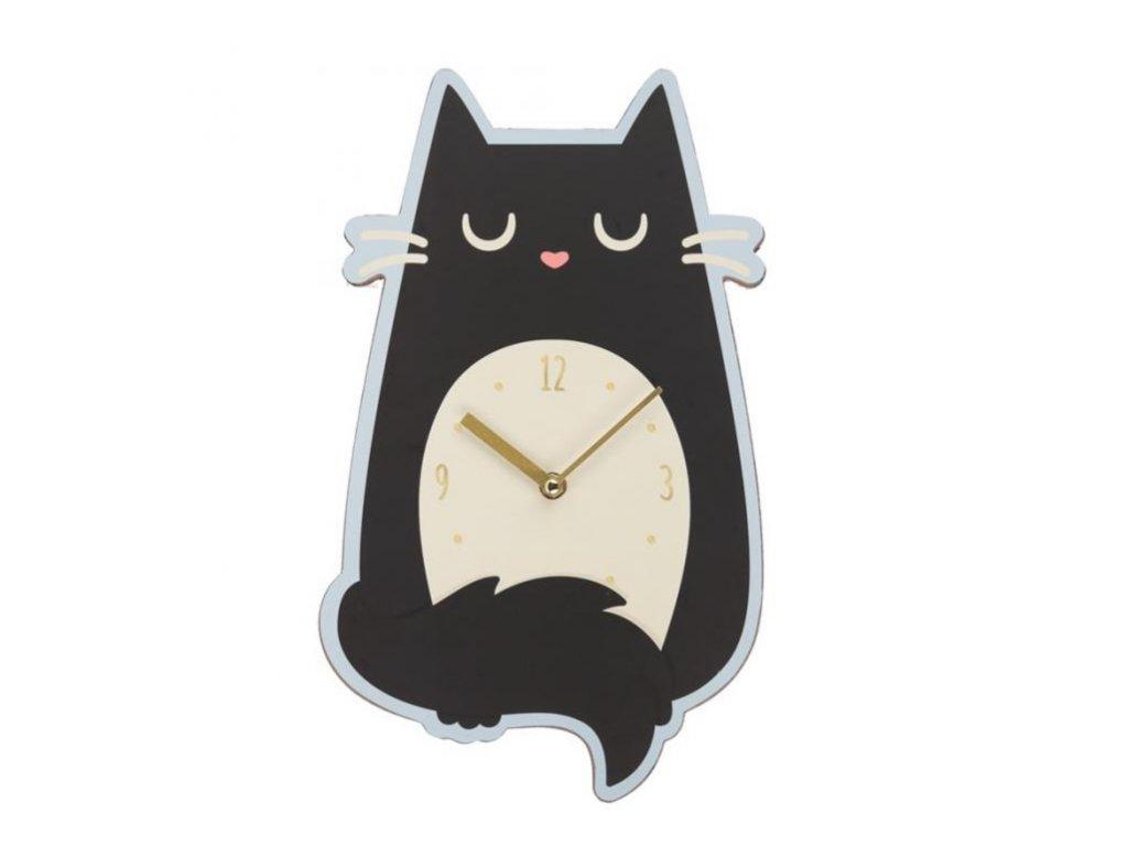 nástěnné hodiny kočka