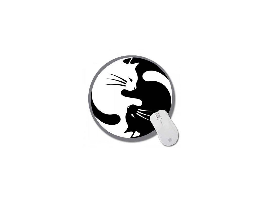 Podložka pod myš kočka III - jin jang