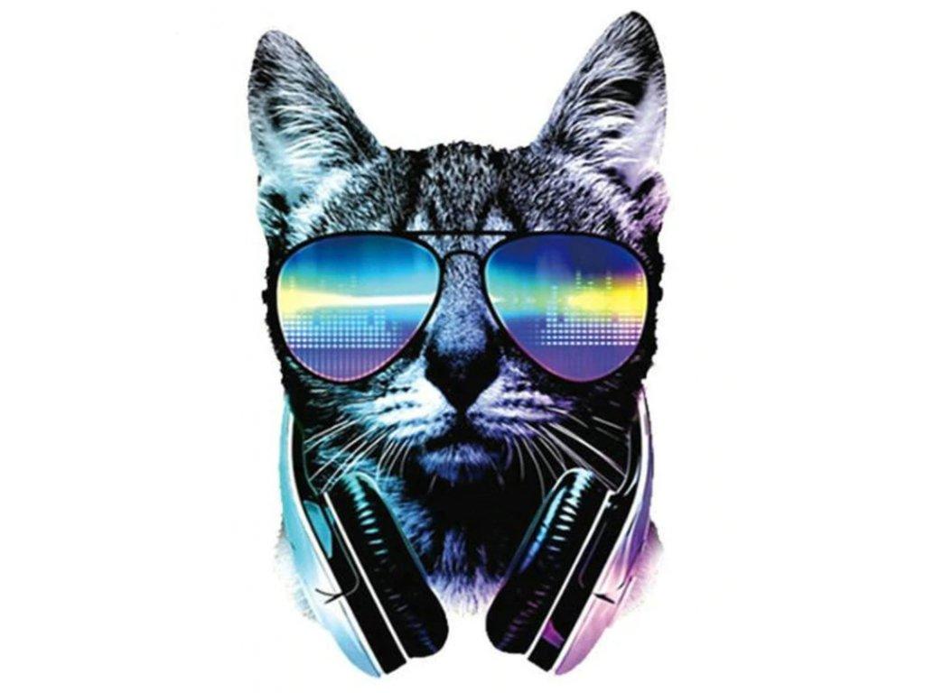 nažehlovačka kočka sluchátka