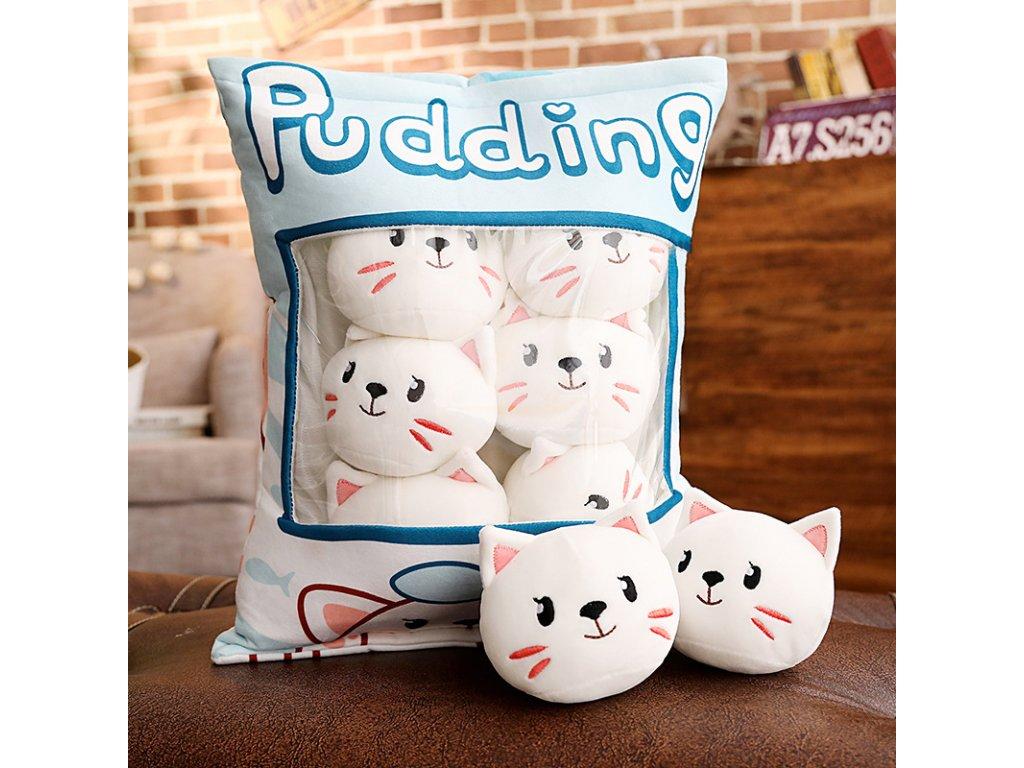 kočičí polštářky v pytli