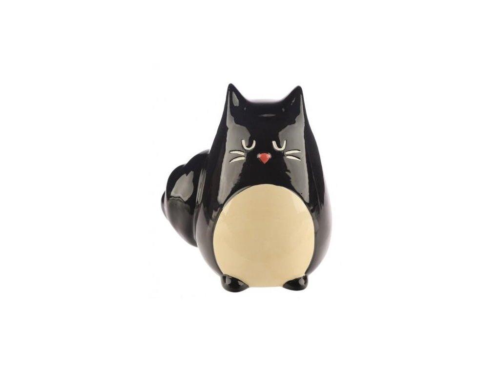 Keramická kasička černá kočka