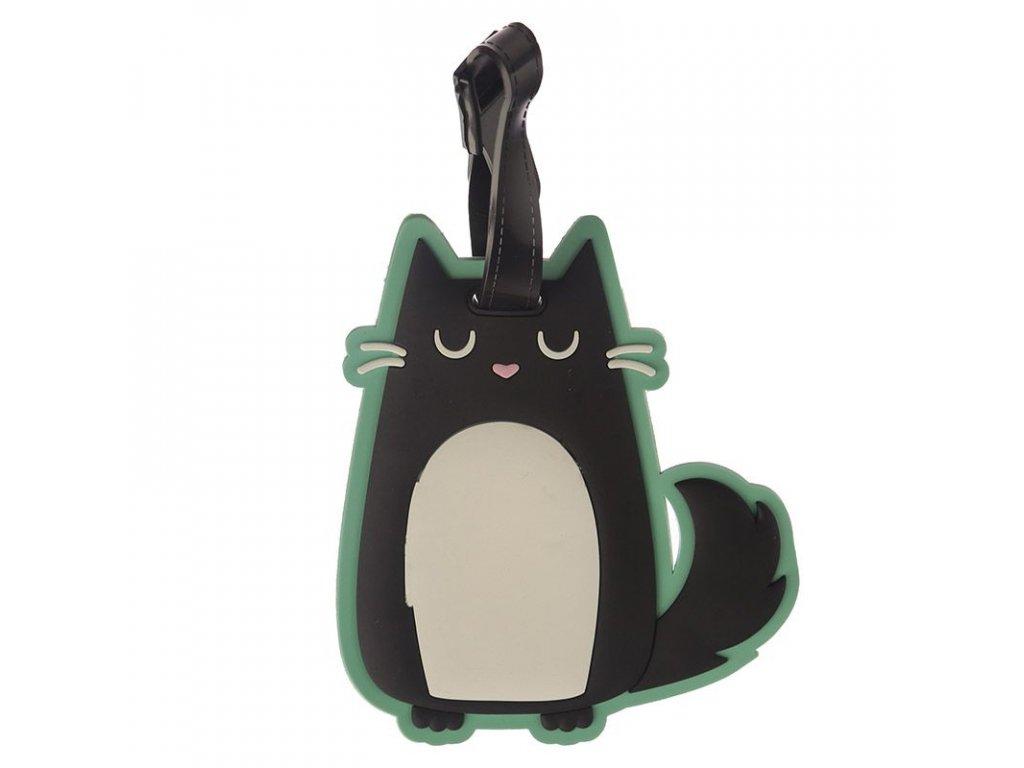 visačka jmenovka na kufr zavazadlo kočka s kočkou