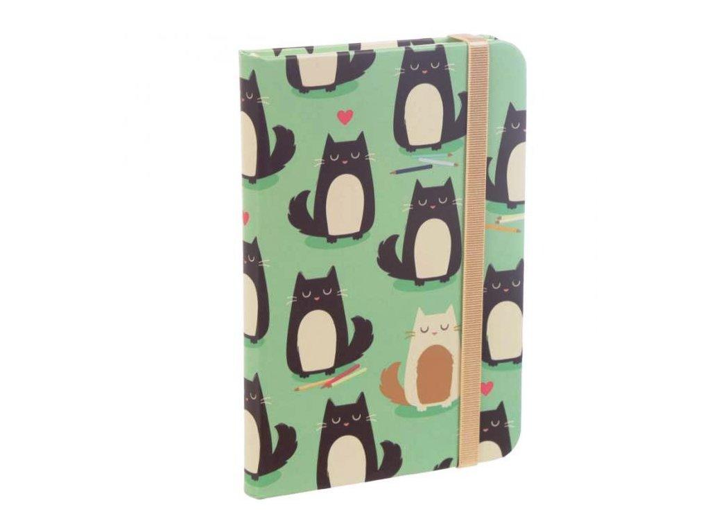 zápisník blok notýsek kočka kočičí. 2jpg