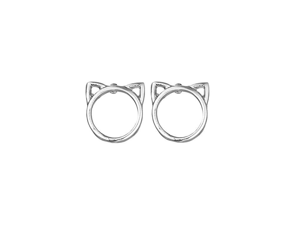 Náušnice kočka s ušima