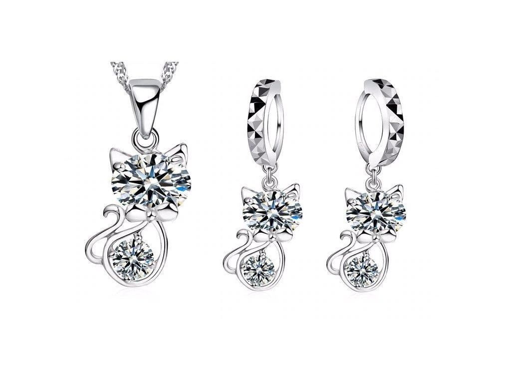 55f6b9f32f TIP  Set náušnice a náhrdelník kočka s ocáskem